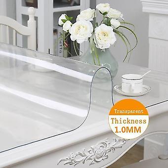 Tablecloth Transparent, Table Cover, Kitchen Pattern Linoleum Glass Soft Cloth