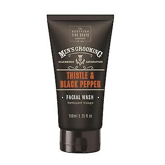 Scottish Fine Soaps Thistle & Black Pepper Facial Wash 150ml Tube