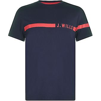 Jack Wills Budden Stripe Logo T Shirt