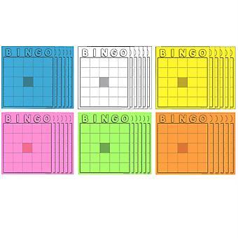 Blank Bingo Cards, Assorted Colors