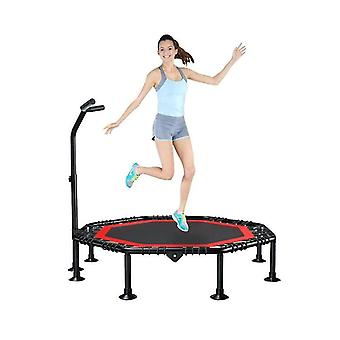 Mini Trampoline With Adjustable Handrail,fitness Trampoline, Exercise Trampoline For Adults Kids