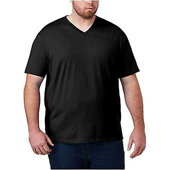 Essentials Men's Big & Tall 2-Pack Short-Sleeve V-Neck T-Shirts in forma da...