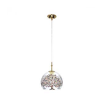 Elegante Lámpara Colgante Luna Oro De 24 Quilates 1 Bombilla