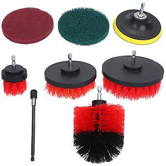 Accesorio de cepillo de perforación de 12pcs para cocina / coche / piso rojo
