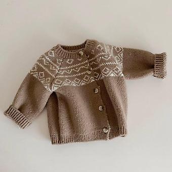 Vauvan neuletakit takki neuleet pitkähihainen puuvillatakki