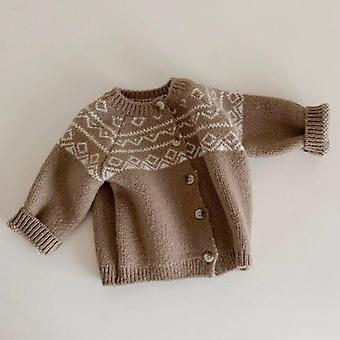 Baby Knit Cardigans Coat Knitwear Long Sleeve Cotton Jacket