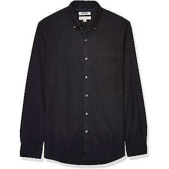 Marke - Goodthreads Men's Langarm Oxford Shirt w/Pocket, Schwarz X-L...