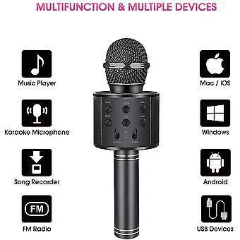 Microphone sans fil karaoké Bluetooth Portable, Haut-parleur portable Accueil