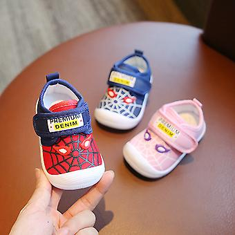 Toddler Non-slip Shoe Infant First Walkers Shoes With Cobweb Fashion Pattern Baby Boy Casual Loafers