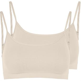 Pieces Womens Symmi Top 2 Pack Non Wired Bra Lingerie Underwear