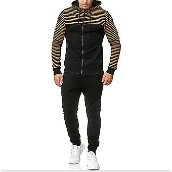 Gemdeckmen's Casual Tracksuit Set Long Sleeve Full-zip Running Jogging Athletic Sweat Suits