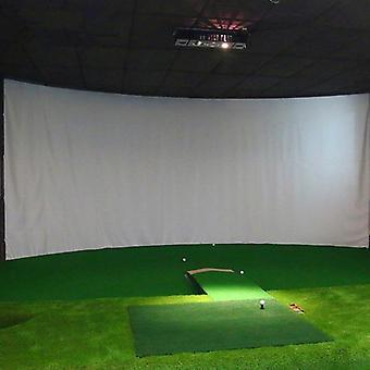 Sisäharjoittelun iskuprojektionäyttö, valkoinen kangas golfiin