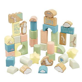 Rainbow Designs Guess How Much I love You Wooden Building Blocks