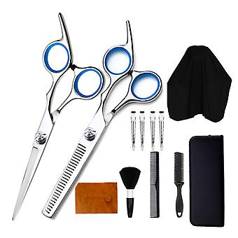 Haircut scissors straight snips thinning hairdressing barber tools lf10