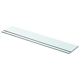 vidaXL رفوف 2 pcs. الزجاج شفاف 80 × 12 سم