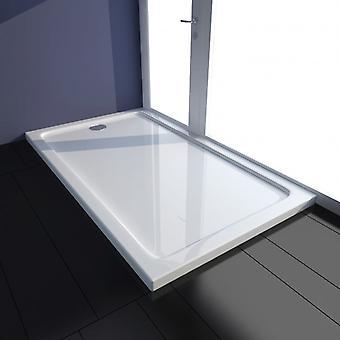vidaXL Shower Cup ABS Rectangular White 70×120 cm