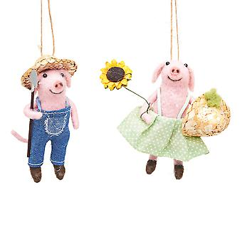 Sass & Belle Farming Mice Decorations