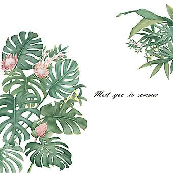 Green Plants Wall Sticker Home Decal (size:94cm X 82.5cm)