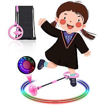 FengChun Kinder Blinkender Springring, Knchelsprungball Glhender Springender Ball Blinkender