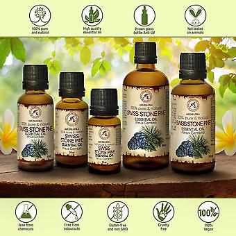 HanFei Zirbelkieferöl 2x100ml - 100% Natürliche Reines Ätherisches Zirbenöl 200ml - Pinus Cembra -