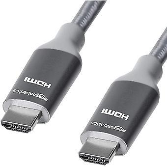 FengChun Geflochtenes Hochgeschwindigkeits-HDMI-Kabel, Dunkelgrau, 1,8 m