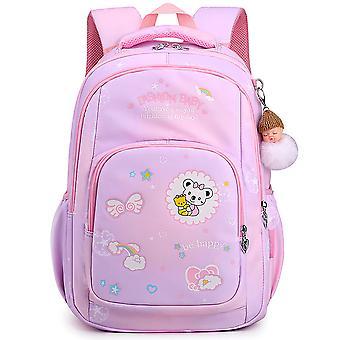 Cuidados com a coluna leve das meninas, mochila das crianças, bolsa escolar primária