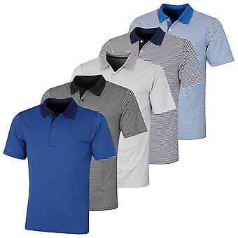 Proquip Mens 2021 Pro Tech Bar Stripe Stretch Wicking Microfibre Polo Shirt
