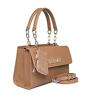 REPLAY FW3137, Women's Handbag, 074 Dirty Pale Beige, UNIC