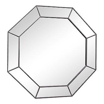 Große Silber Sechseckspiegel, 61Cm