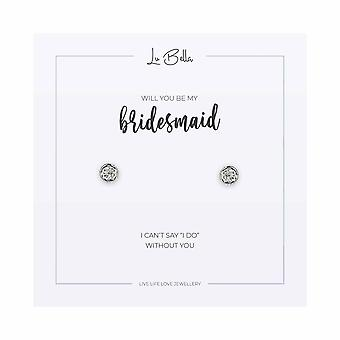 Will You Be My Bridesmaid - Boucles d'oreilles sentiments 8mm - Argent - Bijoux cadeaux pour femmes de Lu Bella