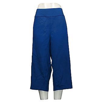 Bob Mackie Women's Pants Knit Twill Gaucho Pants Blue A352514