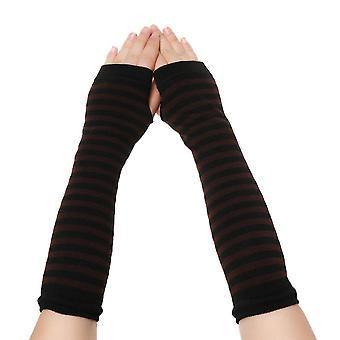 女性ソフトフィンガーレス手袋、アームカバー長袖手袋