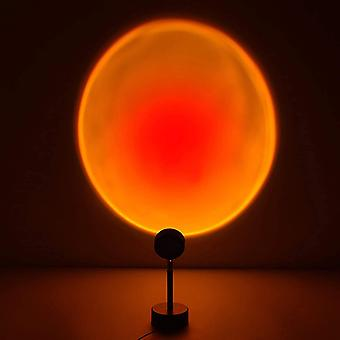 Sunset projection lamp night light projector 90 degree led projection lamp night light for kids adults lights for room decor (sun-red portable) pl-143