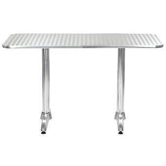vidaXL Tuintafel Zilver 120 x 60 x 70 cm Aluminium