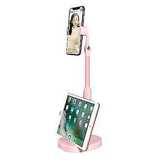 Ροζ κινητό τηλέφωνο κάτοχος με τη διευθετήσιμη γωνία και το ύψος x5216