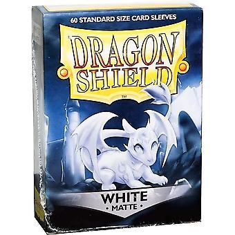 Dragon Shield Standard Matte White Card Sleeves - 60 Sleeves