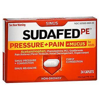 Sudafed Sudafed Pe Pressure + Pain + Mucus For Adults Caplets, 24 Caplets