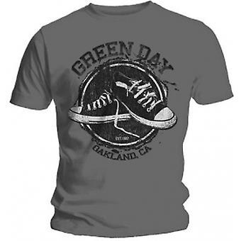 Green Day Converse Mens Grey T Shirt: Medium