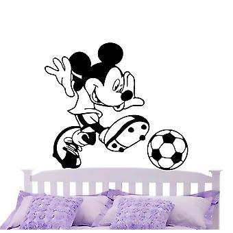 Mickey Playing Football Wall Stickers Home Decoration 42x47cm