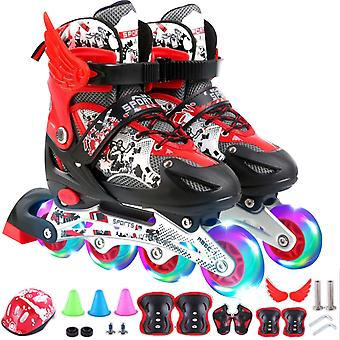 Adjustable Inline Skates For Kids And Adults With Full Light Up Wheels , Outdoor Roller Skates