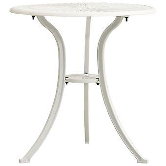 vidaXL Garden Table White 62x62x65 cm Cast Aluminum