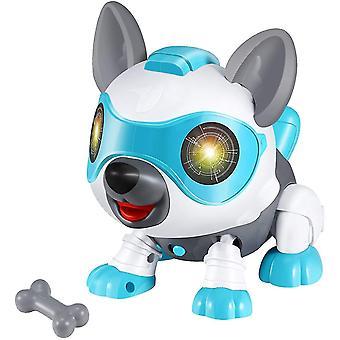 Vemix Diy Voice Control Touch Sensor Elektronische Robot Hond Kinder educatief speelgoed (Blauw)