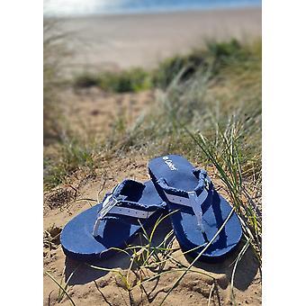 Ladies Canvas Toe Post Sandals