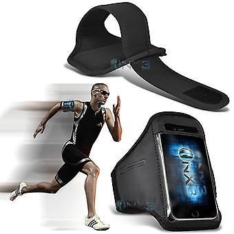 Huawei P10 Case (Zwart) Hoes Hoes verstelbare Fitness Running Jogging Gym Armband Houder