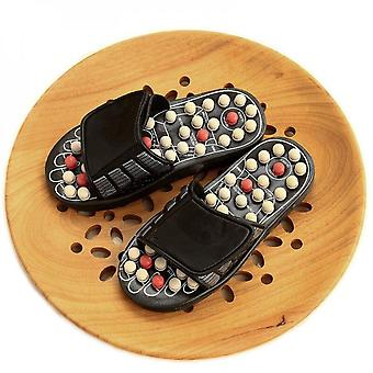 Men And Women Massage Shoes 82 Acupuncture Points Foot Massage Slippers Home Couple Sandals And Slippers - White Prickly