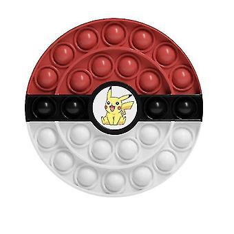 Brinquedos de prensa de quebra-cabeça de cores infantis, brinquedos pokeball (cor1)