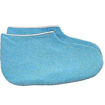 Luvas de cera de parafina para luvas de banho de mão e pés e abertura de botas (azul)