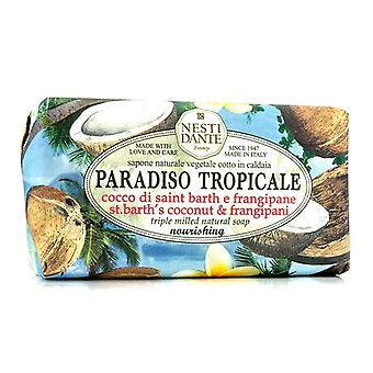 Nesti Dante Paradiso Tropicale Triple slipat naturlig tvål - St Barths kokos & Frangipani 250g/8,8 oz