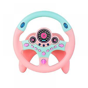 Ausgerichtet auf Lenken Interaktives Lenkrad Vorgeben Spiel Spielzeug (Pink)