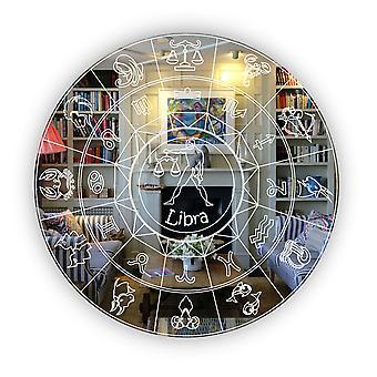 Zodiac Horoscope Circle Engraved Acrylic Mirror - Libra